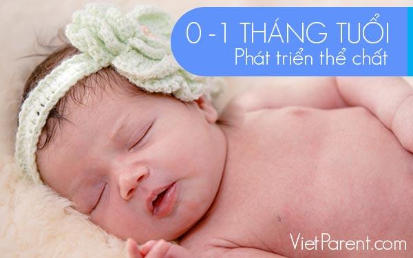 Phát triển thể chất trẻ 0-1 tháng tuổi
