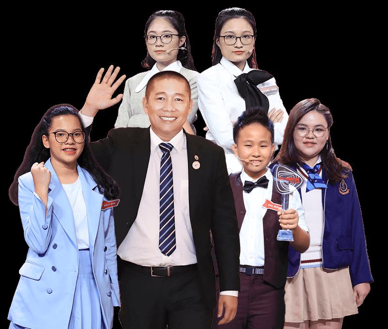Thầy Nguyễn Phùng Phong và học sinh