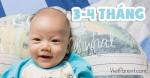 Quá trình phát triển của trẻ sơ sinh 3-4 tháng tuổi